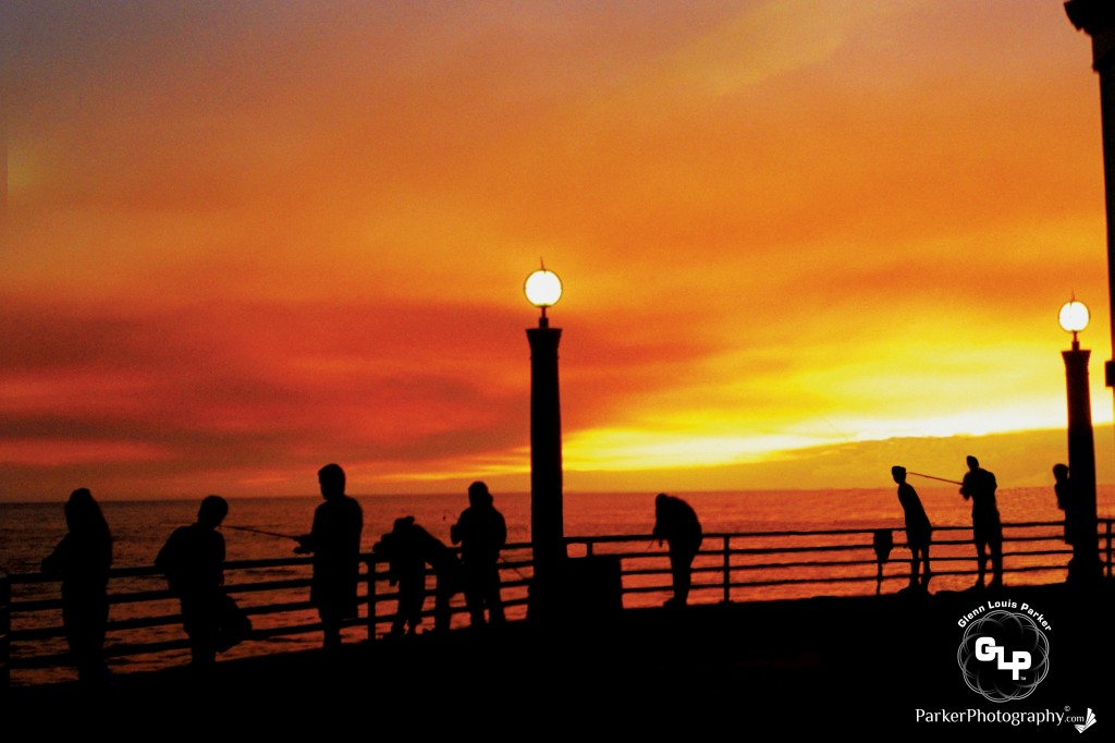 Manhattan Beach Pier, California! During the 1990 Malibu / Topanga Canyon Fires!