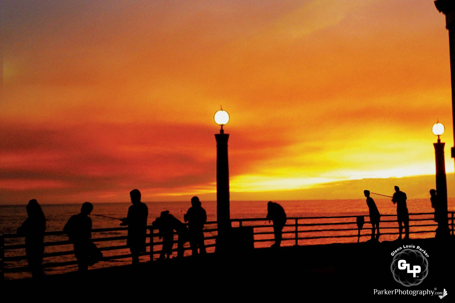 ParkerPhotography-Founded1992-Manhattan-Beach-Pier-California-During-the-1992-Malibu-Topanga-Canyon-Fires